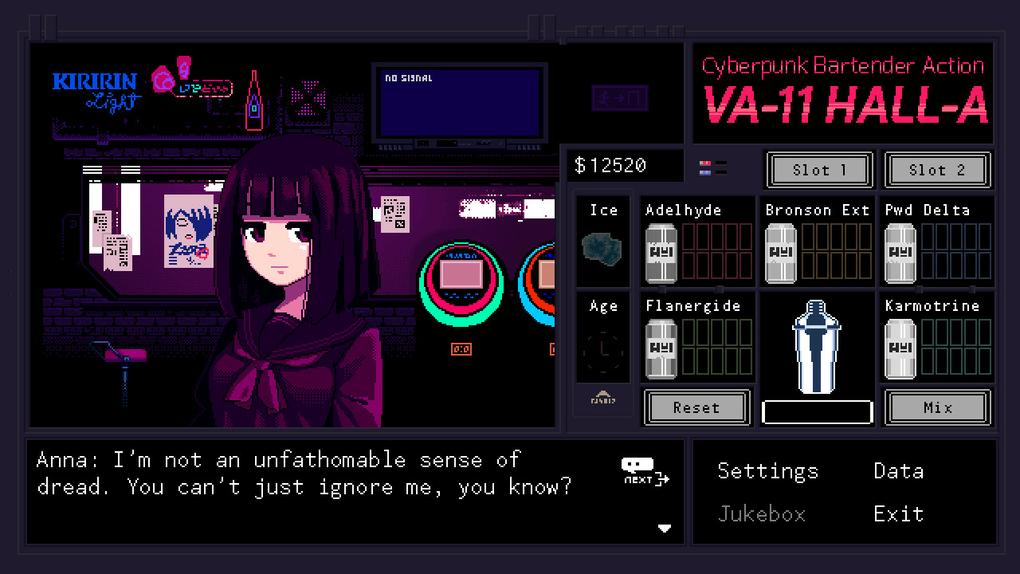 Скриншот №1 к VA-11 Hall-A Cyberpunk Bartender Action